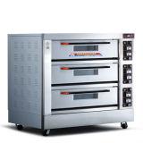 Hete het 3-dek van de Verkoop 6-dienblad Gemeenschappelijke Elektrische Oven Van uitstekende kwaliteit