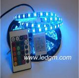 Ce/RoHS impermeabilizan la venta al por mayor con pilas flexible de la luz de tira de la tira 12V SMD 5050 LED de la luz del RGB IP67 LED
