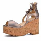 (Donna-in) sandali Lace-up Vuoti-fuori della piattaforma del sughero delle donne dell'alto tallone di modo
