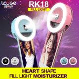 가습기 (RK18)를 가진 휴대용 LED Selfie 저속한 가벼운 재충전용 플래쉬 등