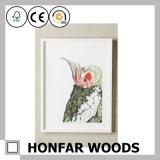 Het witte Schilderen beëindigde het Houten Frame van de Foto van het Beeld voor de Decoratie van de Salon