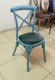 Bunter x-rückseitiger Eisen-Rohr-Stuhl für Hochzeit, Hochzeits-Eisen-Garten-Stuhl