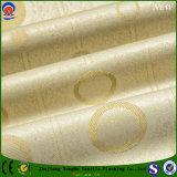 Tela tejida del poliester de la cortina del telar jacquar de la tela