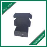 طبع صندوق في أسود مع علامة تجاريّة في أبيض أو فضة