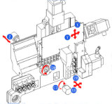 O tipo do irmão fura 32mm máquina do torno do CNC de 5 linhas centrais com preço barato