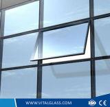 Vidro De Ladrador De Limão Tintado / Vidro De Isolamento De Ferro Baixo / Vidro Laminado Temperado / Vidro Automático / Vidro Colorido Reflector Temperado