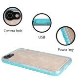 caisse imperméable à l'eau transparente de téléphone de la couverture 3D arrière pour l'iPhone 7 4.7inch