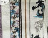 大きい花模様の絶妙な技量のジャカード布(FEP012)