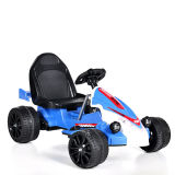 Elettrico Guidare-su telecomando Car- Kart blu (due batteria del giocattolo dei bambini del motore due)