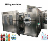 Water Rinser Filler Capper Triblock Machine para Pet Glass Bottle