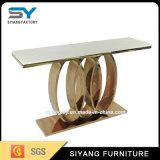 호화스러운 디자인 판매를 위한 황금 스테인리스 콘솔 테이블