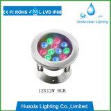 IP68 luz subaquática do diodo emissor de luz do poder superior 18watt