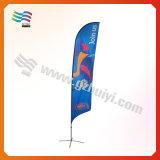 перо сатинировки 4.5m Поляк выполненное на заказ рекламируя флаги пляжа