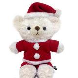 帽子、スカーフおよび本を持つカスタムクリスマスのテディー・ベア