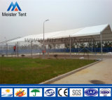 Tenda esterna provvisoria di esposizione della tenda di evento del partito con la pavimentazione di legno