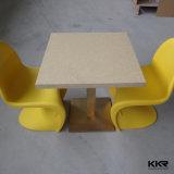 Tabella pranzante della mobilia di superficie solida acrilica quadrata del ristorante