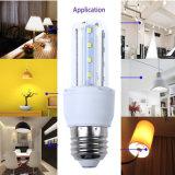 2u iluminación interior LED 3W luz del maíz B22 Base de lámpara ahorro de energía 3years de los bulbos de la garantía