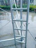 Ladder van het Staal van Cuplock de Steiger de Gegalvaniseerde en Steun van de Ladder