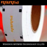 Frecuencia ultraelevada frágil y etiqueta engomada elegante de la Anti-Falsificación RFID