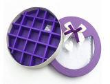 Actual rectángulo del chocolate de la dimensión de una variable redonda del papel de embalaje con la ventana