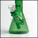 El fumar verde de agua de Illadelph del cubilete de cristal del tubo en el pelele embriagador soplado mano común del tabaco al por mayor