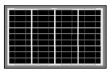 painel 35W solar poli para a luz solar do diodo emissor de luz