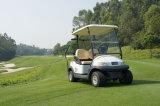 Carrello di golf bianco di Seater di colore 2 con il piatto del Caddie