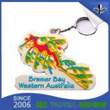 PVC macio de borracha relativo à promoção engraçado Keychain do costume 3D do Keyring
