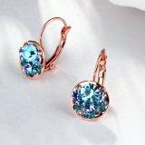 L'or de mode a plaqué les boucles d'oreille de femmes plaquées par or de Rose de boucles d'oreille de femmes de foret de Crech en alliage de zinc beaucoup de boucles d'oreille de couleur