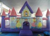 スライドが付いている弾力がある城を跳んでいる膨脹可能なコンボの警備員