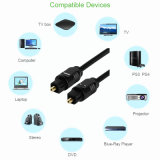DVDプレイヤーのxBoxのための15m Od4.0デジタル光学可聴周波ケーブルのToslinkの金によってめっきされる可聴周波視覚のファイバーCabo