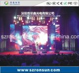 Tela interna Rental de fundição do diodo emissor de luz do estágio do gabinete do alumínio de P4.81mm HD