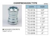 Tipo de aço da compressão dos acoplamentos de EMT