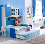 本箱が付いている児童室の家具の木のベッド