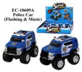 Jouet neuf de véhicule de police de Flahing et de musique