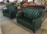 Sofà di cuoio moderno di Chesterfield per la mobilia dell'hotel/sofà dell'ufficio