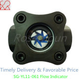 Indicador de cristal de la vista del flujo del acero de carbón con la rueda de paleta