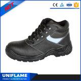 Кожаный стальные ботинки работы Ufa007 людей ботинок безопасности пальца ноги