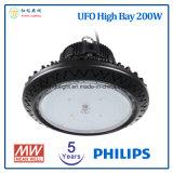 Louro elevado E40 do diodo emissor de luz do UFO da alta qualidade 200W com 5 anos de garantia