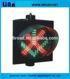Красный/зеленый свет лампы островка безопасност СИД, предупредительный световой сигнал безопасности дороги