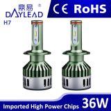 자동 예비 품목 H7 LED 헤드라이트 2800lm 차 LED 맨 위 빛