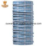 方法淡いブルーの広告の管のカスタム循環のヘッドスカーフのバンダナHeadwear