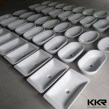 Lavabo acrilico di superficie solido di colore bianco sanitario degli articoli