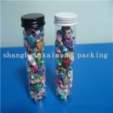 Tubo cilíndrico de plástico decorativo para pacotes de doces