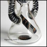 Nuevas 9.25 pulgadas de tubo de agua que fuma de cristal colorido con tres orificios Perc en la talla común de 18.8m m