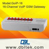 Dispositivo de GoIP-16 VoIP G/M Gateway/GSM para o atendimento livre