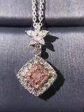 Silberne Schmucksachen der Form-925 mit Kubikzircon-Halskette