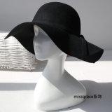 Damen der Ffashion Fedora-Panama-Filz-Wolle-Hut-Frauen