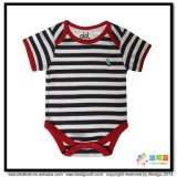 長い袖の赤ん坊は縞の印刷の赤ん坊Onesieに着せる