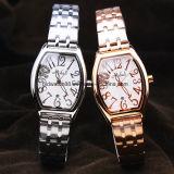 Acero inoxidable del cuarzo del reloj de la pulsera de las mujeres con estilo